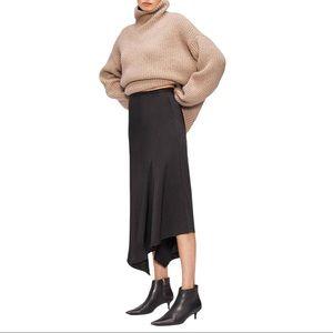 Anine Bing Bailey Asymmetrical Skirt Black Med
